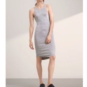 Aritzia Wilfred Free Yasmin Dress in Heather Brume